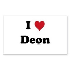 I love Deon Rectangle Decal
