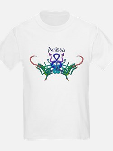 Anissa's Celtic Dragons Name Kids T-Shirt