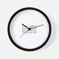 Cricket Chai Chapati Wall Clock