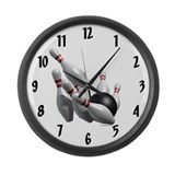 Bowling strike Wall Clocks