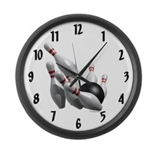 Bowling Strike Large Wall Clock