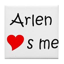 Arlene name Tile Coaster