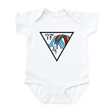 Cute Uss john f kennedy Infant Bodysuit