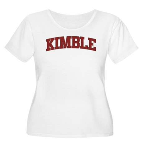 KIMBLE Design Women's Plus Size Scoop Neck T-Shirt