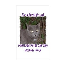 National Feral Cat Day 2 Rectangle Decal