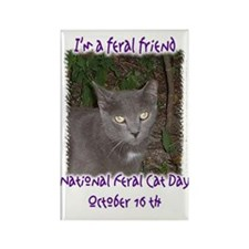 National Feral Cat Day 2 Rectangle Magnet(10 pack)