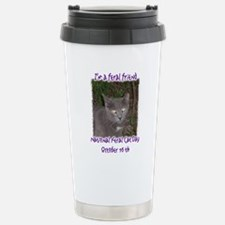 National Feral Cat Day 2 Stainless Steel Travel Mu