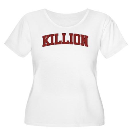 KILLION Design Women's Plus Size Scoop Neck T-Shir