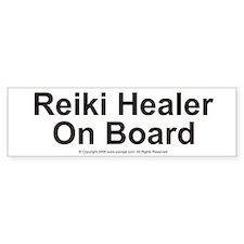 Reiki Healer on Board Bumper Car Car Sticker