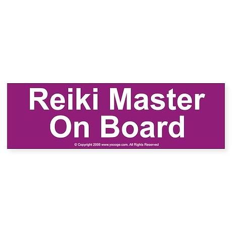 Reiki Master on Board Bumper Sticker