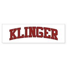 KLINGER Design Bumper Bumper Sticker