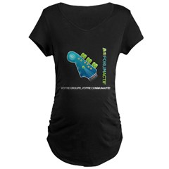 T-Shirt noire maternite
