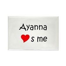 Ayanna Rectangle Magnet