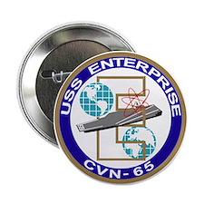 """Unique Uss enterprise cvn 65 2.25"""" Button"""