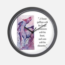 Horse Character with Saying Wall Clock