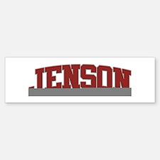 JENSON Design Bumper Bumper Bumper Sticker