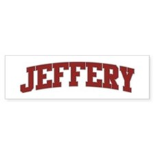 JEFFERY Design Bumper Bumper Sticker