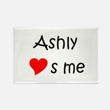 Cute Ashly Rectangle Magnet