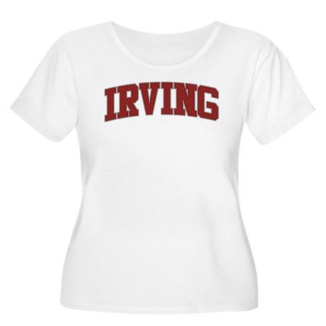 IRVING Design Women's Plus Size Scoop Neck T-Shirt