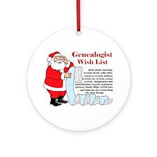 Genealogy Christmas<br>Ornament (Round)