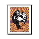 Swami (Yellow/Purple) Framed Panel Print