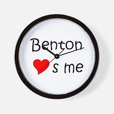 Cute Benton loves me Wall Clock