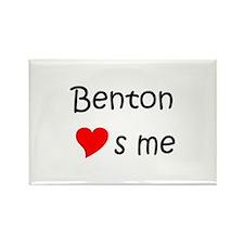 Cute Benton loves me Rectangle Magnet