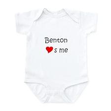 Cute Benton loves me Infant Bodysuit