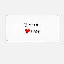 Cute Benton loves me Banner