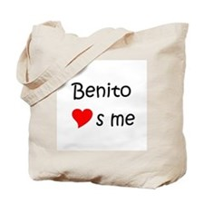 Benito name Tote Bag