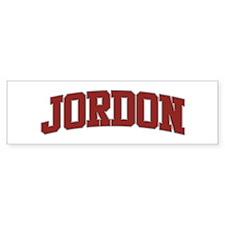 JORDON Design Bumper Bumper Sticker