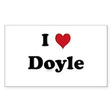 I love Doyle Rectangle Decal