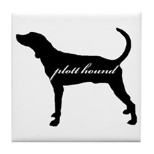 Plott Hound DESIGN Tile Coaster