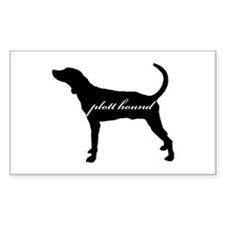 Plott Hound DESIGN Rectangle Decal