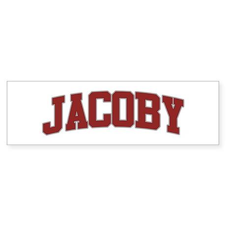 JACOBY Design Bumper Sticker