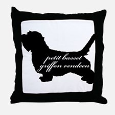 PBGV DESIGN Throw Pillow