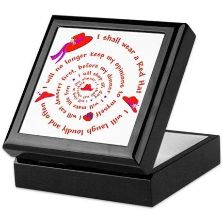 Red Hat swirly Keepsake Box