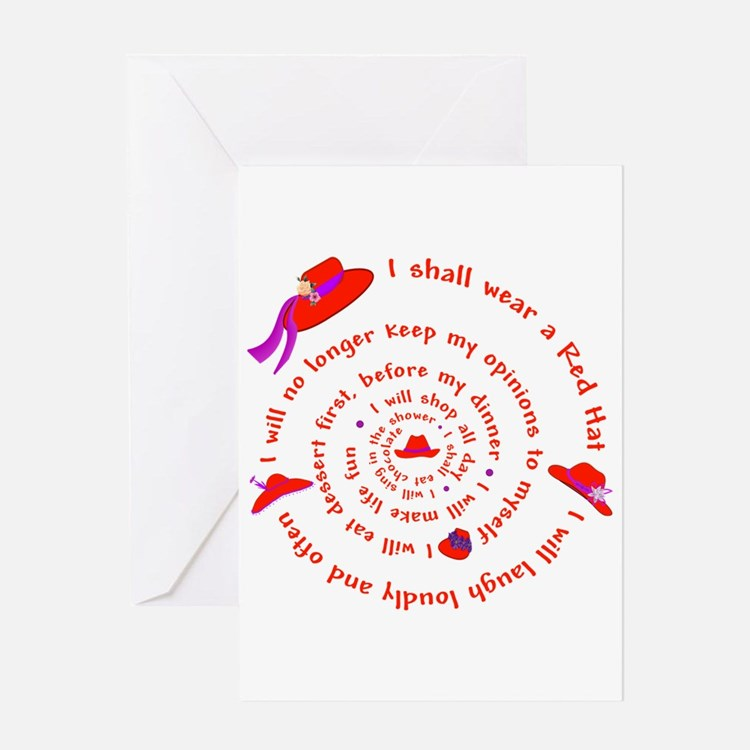 Red Hat swirly Greeting Card