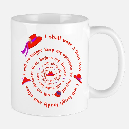 Red Hat swirly Mug