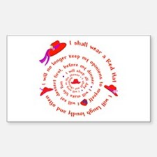 Red Hat swirly Rectangle Stickers