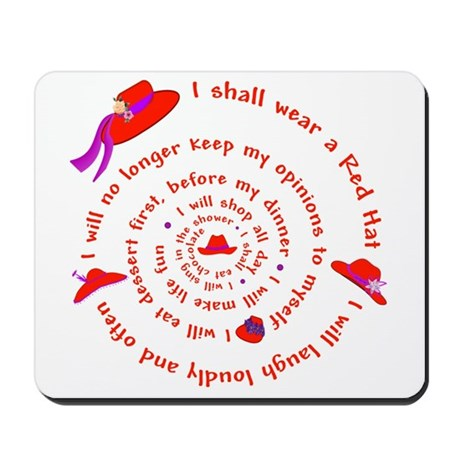 Red Hat swirly Mousepad