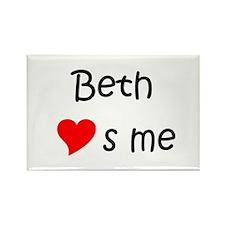 Unique Beth Rectangle Magnet