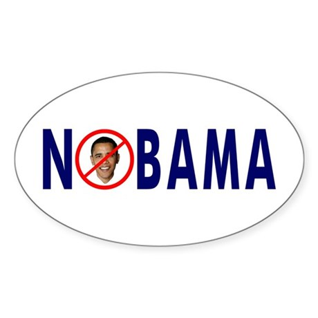 NOBAMA Busters Oval Sticker