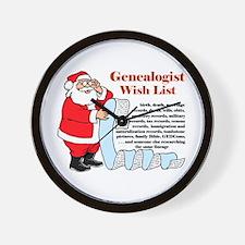 Genealogy Christmas<br>Wall Clock