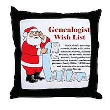 Genealogy Christmas<br>Throw Pillow
