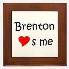 Cool Brenton Framed Tile