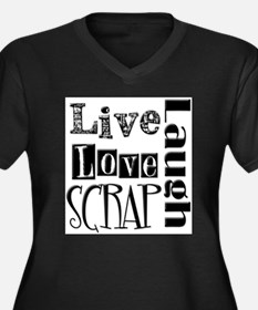 Live Laugh Love Scra Plus Size T-Shirt