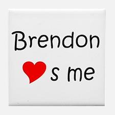 Funny Brendon Tile Coaster