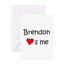 Unique Brendon Greeting Card