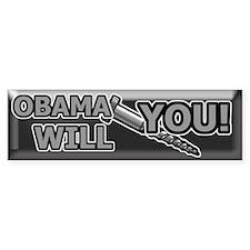 Anti-Obama Bumper Sticker (50 pk)